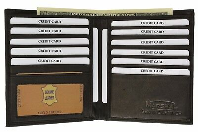 Men's Genuine Leather Bifold Wallet Slim Hipster Cowhide Credit Card and ID New