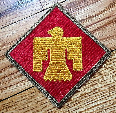 Rare WW2 US Army 45th Infantry Division GEMSCO patch olive drab border no glow