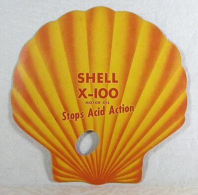 *1950's Shell Gasoline & Oil Cardboard Fan Premium Gas with TCP Patent Pending