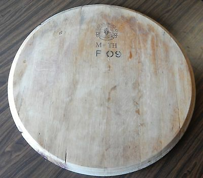 Wine Barrel Lid Top Of Barrel Natural Stain Oak Sectioned Round Craft Project