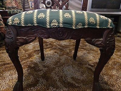 2x  Mahogany/Jarrah Coloured Timber Ornate embossing/carved timber Chairs