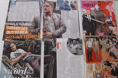 CHARLIE HUNNAM*Magazine Clippings *King Arthur:Legend Of The Sword*