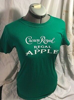 **new Crown Royal Apple, Ladies Baby Doll Medium, Green, Fun Summer Shirt