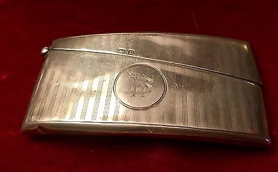Antique Sterling Silver Calling Card Case T.H.Hazelwood 1923  Birmingham