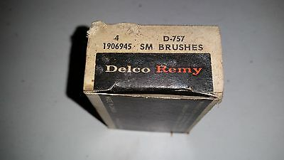 Vintage NOS Delco-Remy Brush Set D-757 GM 1906945 Buick Chevy 1955-62