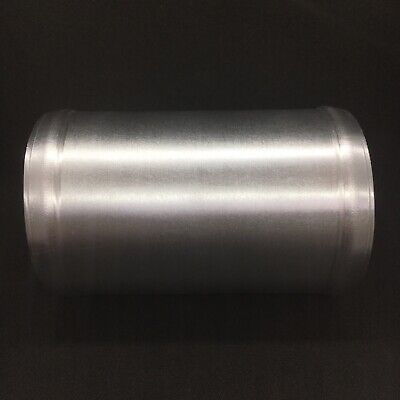 "Universal 2.5"" Inch 63mm Alloy Aluminium Pipe Straight 100mm Brushed Swaged Join"