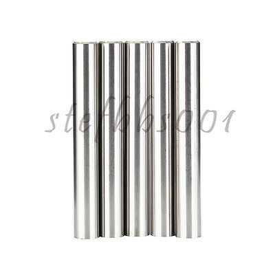 5Pcs D8 60L Tungsten Carbide Round Cemented Rod Blanks for Routers Drills etc