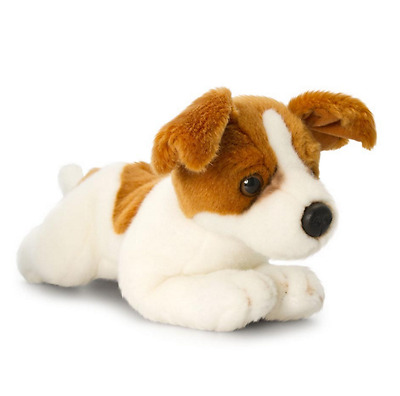 """*NEW* LAYING JACK RUSSELL TERRIER """"PICKLES"""" PUPPY PET DOG SOFT PLUSH TOY 30cm"""