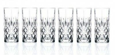 Lorenzo Import 238510 RCR Crystal Highball Glass set of 6. Shipping is Free