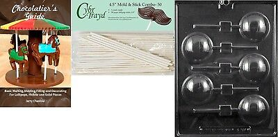 Cybrtrayd 'Volleyball Lolly' Sports Chocolate Candy Mould with 50 11cm