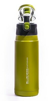 (Green) - Blushers 600ml (20.3oz) Double Wall Vacuum Insulated 304 Stainless