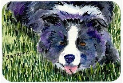 Caroline's Treasures SS8836LCB Border Collie Glass Cutting Board, Large,