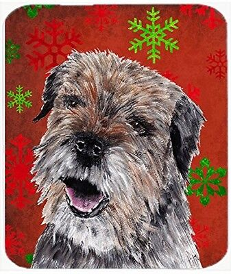 (Red and Green Snowflakes) - Caroline's Treasures Border Terrier Red Snowflake