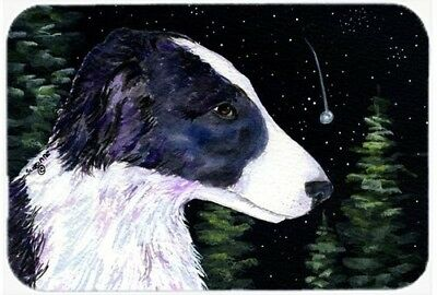 Caroline's Treasures SS8490LCB Starry Night Border Collie Glass Cutting Board,