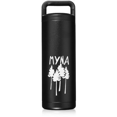 Myna Forum Bottle, Double Insulated Stainless Steel Water Bottle w/ Wide Mouth