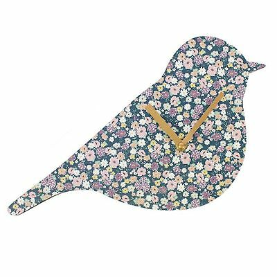 Wall Clock Florella Bird Shaped Floral Battery Operated Wall Clock Gift Animal
