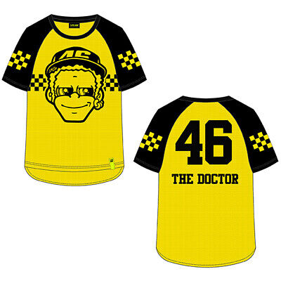 Valentino Rossi Mens Yellow T-Shirt The Doctor Official MotoGP Merchandise VR46