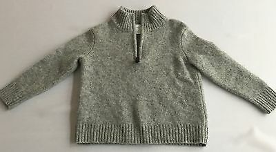 Crewcuts Toddler Baby Boy Grey Lambswool Sweater Size 3T