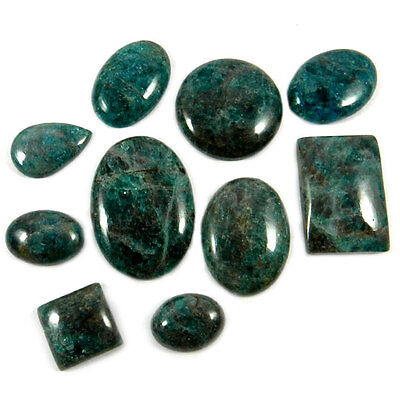 10Pcs Charming Neon Apatite Cabochon Wholesale Lot For Jewelry Gemstone MC00160