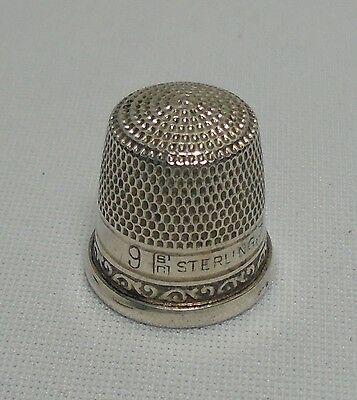 Vintage STERN & COMPANY Sterling Silver Thimble # 9