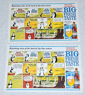 Hamm's Beer cartoon placemats