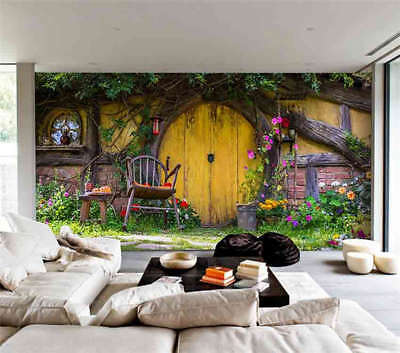 Romantic Small House 3D Full Wall Mural Photo Wallpaper Printing Home Kids Decor