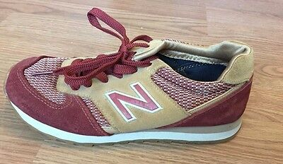 New Balance 554 Women's Running Shoes Brown Red Size US 6 Athletic Sneakers