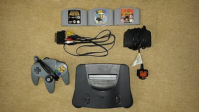 n64 console with 1 controller and 3 games all in great condition