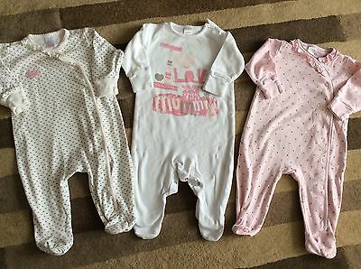 NEXT Little Bundle Of Baby Girl Sleepsuits 3-6 Months - Great Condition