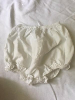 girls 3 6 9 12 months bloomers diaper cover dressy white