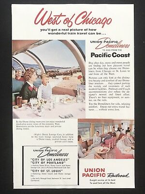 1959 Vintage Ad UNION PACIFIC RAILROAD West Of Chicago Train Travel Vacation