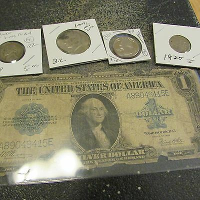Collection Of Old U.s. Coins And Currency  Set #  3