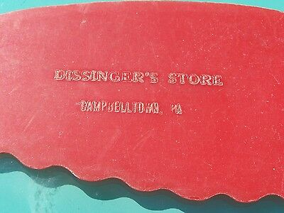 Collectible Old Plastic Advertising Piece - Dissinger's Store - Campbelltown, PA