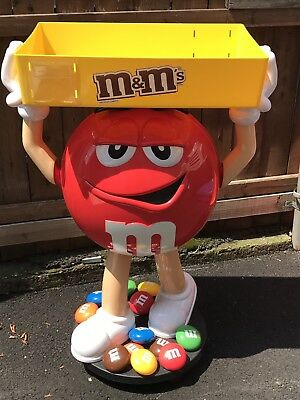 Beautiful Red M&M Candy Display 3 ft  tall.
