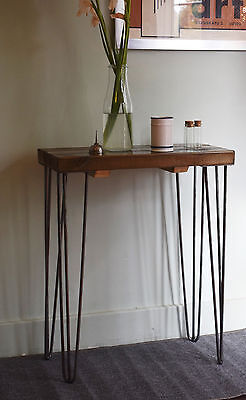 60cm Industrial Console Table Mid Century Modern Style hairpin Table