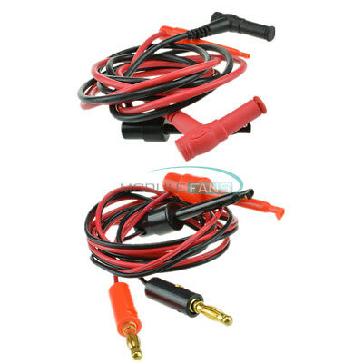 1Set Banana Plug To Test Hook Clip Probe Cable For Multimeter Test Equipment