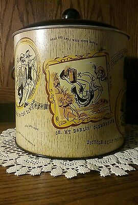 Vintage 1960's Metal Ice Bucket Old Time Music Songs  VERY RARE