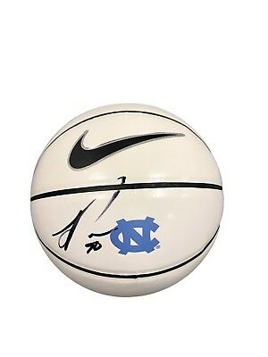 Julius Peppers North Carolina Tar Heels Signed Logo Basketball JSA