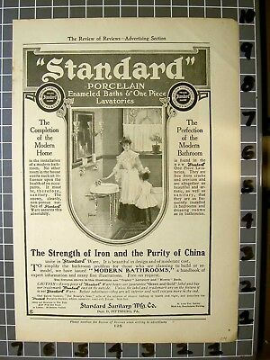1904 Standard Plumbing Porcelain Modern Bath Room Home Mother Child   Fa0  Fa043