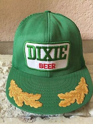 Vintage DIXIE Beer New Orleans Green SnapBack Captains Goldwing Southern Hat