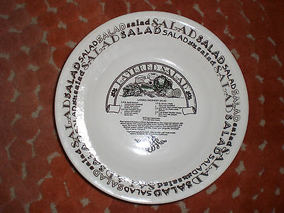 Royal China Made In U.S.A. Garden Classics Salad Bowl With Layered Salad Recipe