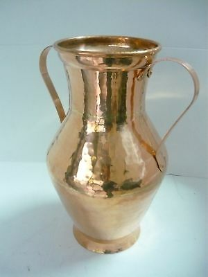 Amphora Umbrella Holder New Copper with Handles Solid Beautiful Piece Single