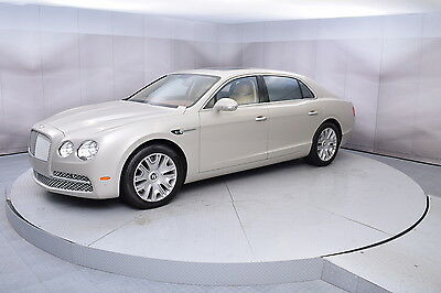 2014 Bentley Flying Spur in White Sand with 6,589 miles 2014 BENTLEY FLYING SPUR SEDAN IN WHITE SAND WITH SAFFRON LOW MILES