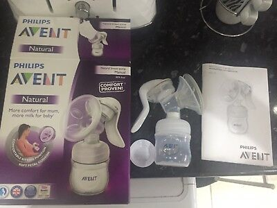 Philips AVENT Comfort Natural Manual Breast Pump & Bottle BPA Free Hardly Touch