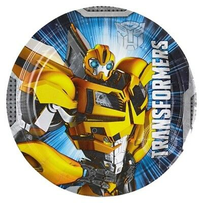 (paper plate) - Autobots disposable plate Kids Birthday 8 Plates Transformers 2