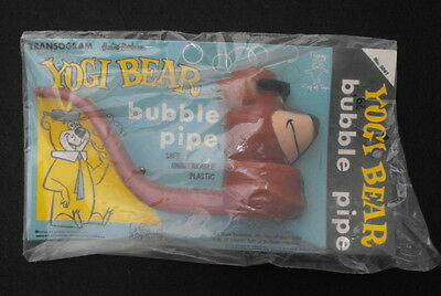 Vintage Transogram Hanna Barbera Yogi Bear Bubble Pipe 1961 NOS on Card