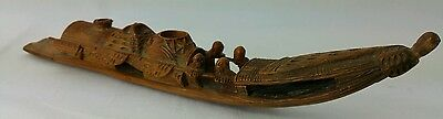 Antique Chinese Carved Bamboo Boat