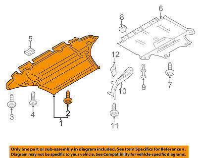 audi oem 09 12 q5 splash shield under engine radiator cover rh picclick com
