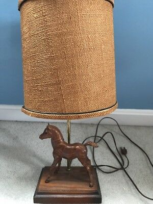 Vintage Breyer Woodgrain Family Arab Foal Working Lamp