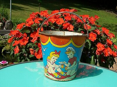 Collectible Vintage Ohio Art Sand Bucket - Sweet Old Find!